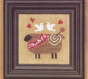 Bent Creek - Smitten - Cross Stitch Kit-Bent Creek - Smitten - Cross Stitch Kit