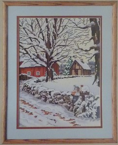 Candamar Designs - Winter Scene - Cross Stitch Kit-Candamar Designs, Winter Scene, Cross Stitch Kit