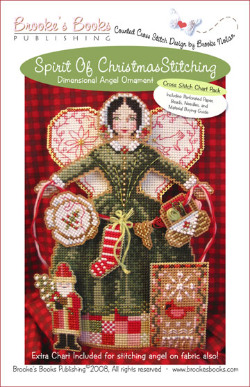 Brooke's Books - Spirit of Christmas Stitching Angel Ornament Chart Pack-Brookes Books - Spirit of Christmas Stitching Angel Ornament Chart Pack