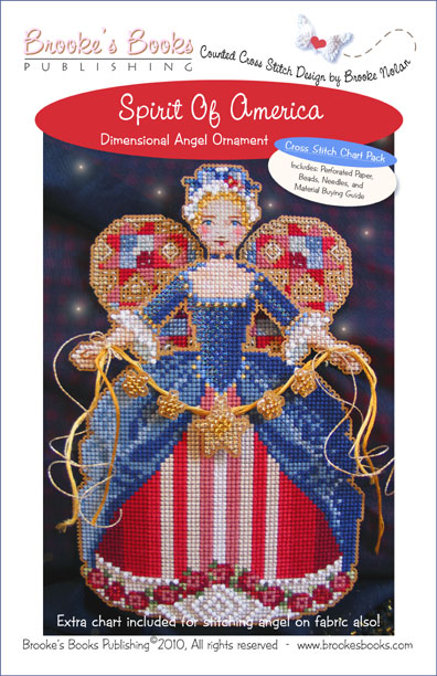 Brooke's Books - Spirit of America Angel Ornament Chart Pack-Brookes Books - Spirit of America Angel Ornament Chart Pack