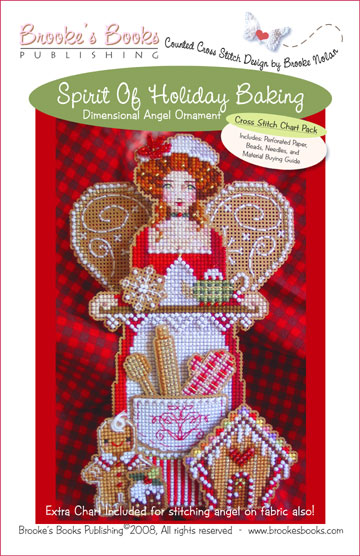 Brooke's Books - Spirit of Holiday Baking Angel Ornament Chart Pack-Brookes Books - Spirit of Holiday Baking Angel Ornament Chart Pack