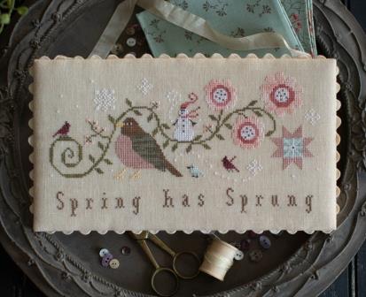 Plum Street Samplers - Spring Has Sprung-Plum Street Samplers - Spring Has Sprung, birds, cross stitch, snowman, Cardinal,