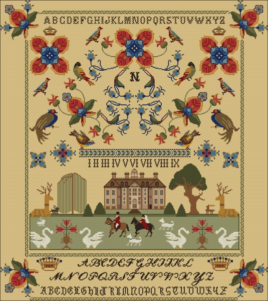 Twin Peak Primitives - Springfield 1817 Sampler (DutchMaynia 2020 Exclusive Pattern)-Twin Peak Primitives - Springfield 1817 Sampler, DutchMaynia 2020 Exclusive Pattern, contest,