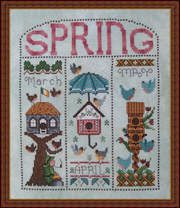 Whispered by the Wind - Spring Homes for March, April, May-Whispered by the Wind Spring Homes cross stitch