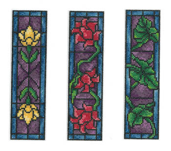 Imaginating - Stained Glass Bookmarks-Imaginating - Stained Glass Bookmarks - Cross Stitch Charts