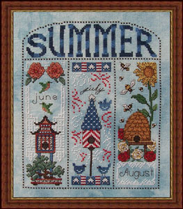 Whispered by the Wind - Summer Homes for June, July, August - Cross Stitch Pattern-Whispered by the Wind Summer Homes June, July, August Cross Stitch Pattern