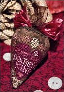 Erica Michaels Needleart Designs - Sweetberry - Silk Berry-Erica Michaels Needleart Designs - Sweetberry, love, Valentines Day, hearts, cross stitch, silk gauze,