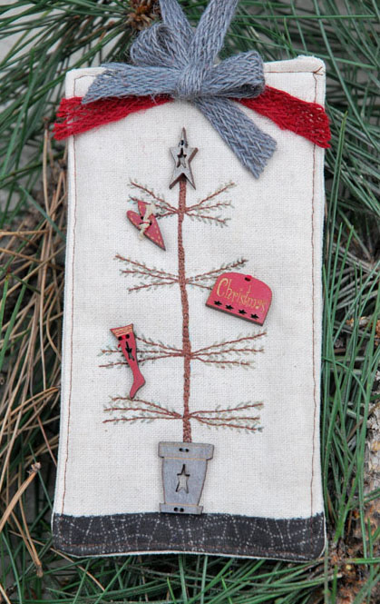 The Bee Company - Primitive Christmas Tree - Limited Edition Kit-The Bee Company - Primitive Christmas Tree - Limited Edition Kit, Christmas tree, gifts, country, cross stitch