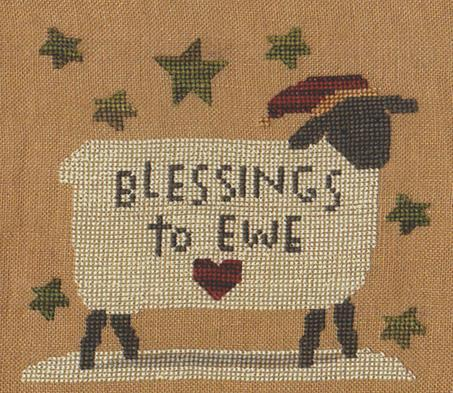 Teresa Kogut - Blessings to Ewe-Teresa Kogut - Blessings to Ewe, sheep, prayers, Christmas, winter, cross stitch
