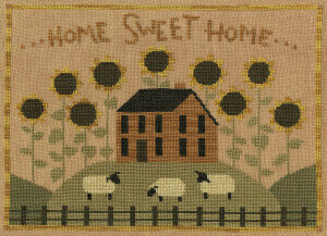 Teresa Kogut - Sunflower House-Teresa Kogut - Sunflower House, sheep, sunflowers, home, cross stitch