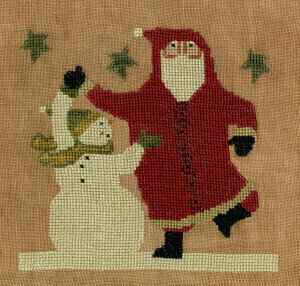 Teresa Kogut - Midnight Tango-Teresa Kogut - Midnight Tango, Santa Claus, snowman, winter, dancing, cross stitch
