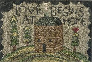 Teresa Kogut - Love Begins - Punchneedle-Teresa Kogut - Love Begins - Punchneedle, home, love, family, house,