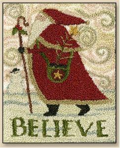 Teresa Kogut - Believe - Punchneedle-Teresa Kogut - Believe - Punchneedle, Santa Claus, Christmas,