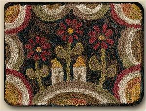Teresa Kogut - Daisy Hill - Punchneedle-Teresa Kogut - Daisy Hill - Punchneedle, flowers, houses,