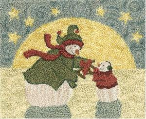 Teresa Kogut - The Greatest Gift - Punchneedle-Teresa Kogut - The Greatest Gift, Love, giving, snowman, punchneedle
