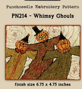 Teresa Kogut - Whimsey Ghouls - Punchneedle-Teresa Kogut - Whimsey Ghouls - Punchneedle, pumpkins, fall, Halloween
