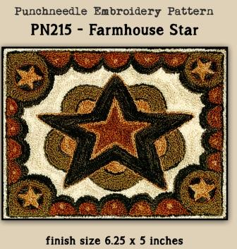 Teresa Kogut - Farmhouse Star - Punchneedle-Teresa Kogut - Farmhouse Star - Punchneedle, country, quilts, punch, crafts,
