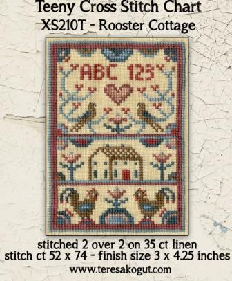 Teresa Kogut - Rooster Cottage-Teresa Kogut - Rooster Cottage, sampler, smalls, farm, animals, cross stitch