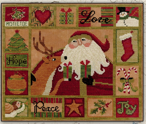 Teresa Kogut - All The Things-Teresa Kogut - All The Things, Santa Claus, Christmas, Rudolph, snowman, Christmas stocking, angel, Christmas tree, gifts, cross stitch