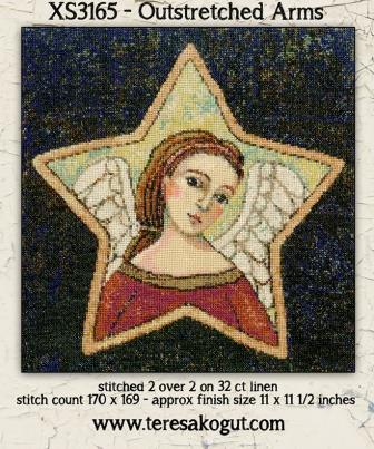 Teresa Kogut - Outstretched Arms-Teresa Kogut - Outstretched Arms, angel, God, cross stitch