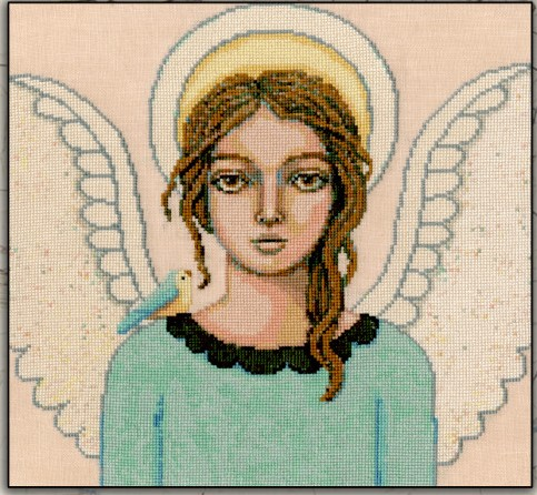 Teresa Kogut - Peacemaker-Teresa Kogut - Peacemaker, angel, guardian, cross stitch
