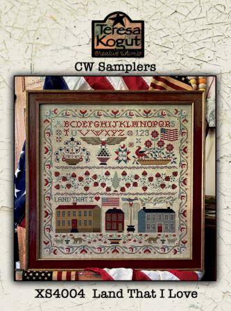 Teresa Kogut - Land That I Love-Teresa Kogut - Land That I Love, USA, America, sampler, angel, eagle, patriotic, cross stitch