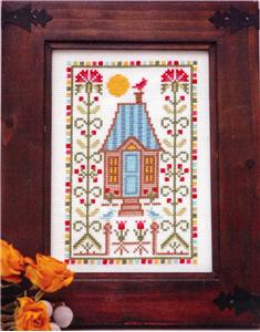 Tiny Modernist - Thistle Sampler - Cross Stitch Pattern-Tiny Modernist, Thistle Sampler, houses, samplers, modern designs, summer, sunshine, Cross Stitch Pattern