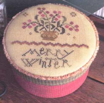 Threadwork Primitives - Merry Winter-Threadwork Primitives - Merry Winter, ornament, flowers, country, cross stitch