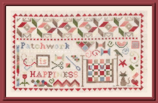 The Pink Needle - Patchwork is Happiness-The Pink Needle - Patchwork is Happiness, quilting, cross stitch, hobbies, relaxing,