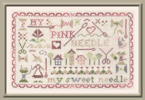 The Pink Needle - My Pink Needle-The Pink Needle - My Pink Needle, sewing, cross stitch, sewing supplies, needles, scissors, spools, thimble,