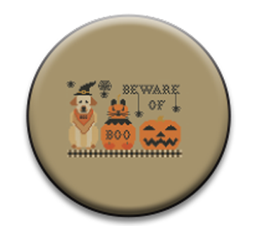 Stitch Dots - Twin Peak Primitives - Beware of...-Stitch Dots - Twin Peak Primitives - Beware of..., Halloween, pumpkin, magnets, needles, cross stitch