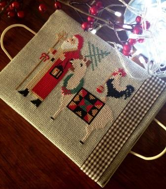 Twin Peak Primitives - Santa's Trilogy III-Twin Peak Primitives - Santas Trilogy III, Christmas, Santa Claus, Llama, cross stitch