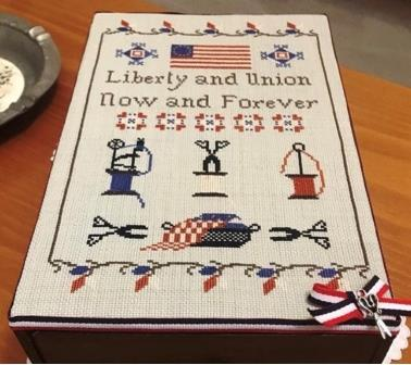 Twin Peak Primitives - Olde Flag Making Sampler-Twin Peak Primitives - Olde Flag Making Sampler, USA, patriotic, American flag, United States of America, sewing, flags, cross stitch