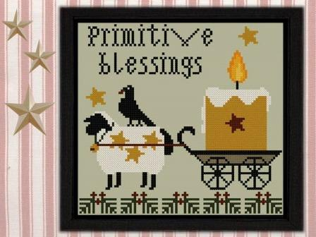 Twin Peak Primitives - Primitive Blessings-Twin Peak Primitives - Primitive Blessings, Fall, sheep, autumn, candle, country, cross stitch