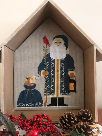 Twin Peak Primitives - 2019 Santa-Twin Peak Primitives - 2019 Santa, Santa Claus, Christmas, Gifts, cross stitch