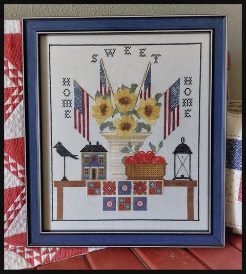 Twin Peak Primitives - A Country Welcome-Twin Peak Primitives - A Country Welcome, USA, patriotic, home, home sweet home, Needlework Expo, cross stitch