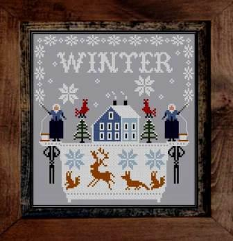 Twin Peak Primitives - Snow Makers-Twin Peak Primitives - Snow Makers, quilts, sewing box, snow, winter, angels, cross stitch