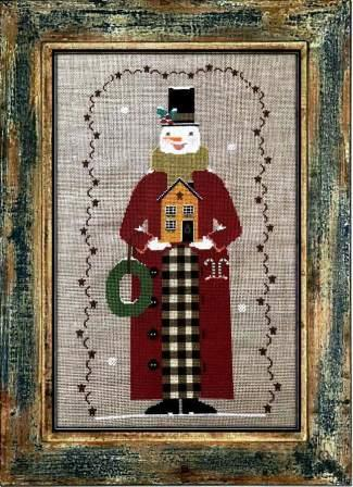Twin Peak Primitives - Snowman 2020-Twin Peak Primitives - Snowman 2020, Santa Claus, Christmas, Christmas Eve, gifts, WINTER, CROSS STITCH