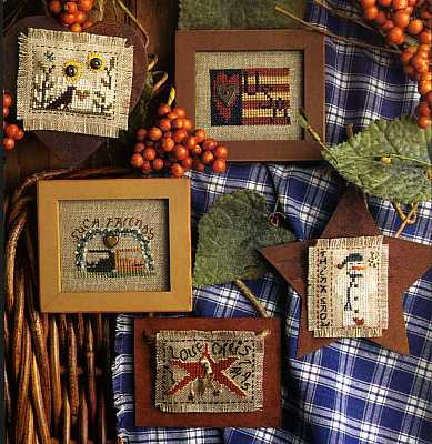 Homespun Elegance - Tiny Stuff II - Ornaments - Cross Stitch Pattern