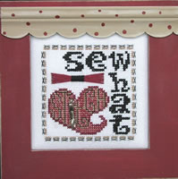 Hinzeit - Charmed - Sewhat - Heart - Cross Stitch Chart with Charm-Hinzeit- Charmed, Sewhat - Heart - Cross Stitch Chart with Charm