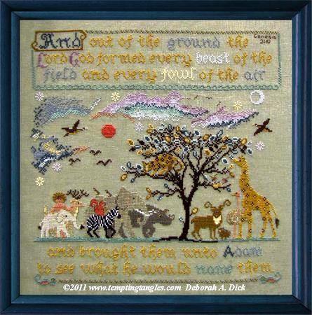 Tempting Tangles Designs - Adam's Menagerie-Tempting Tangles Designs - Adams Menagerie, Adam  Eve, Garden of Eden, animals, God, New Testament,