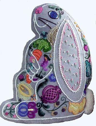 The Tapis Tree - Jacobean Bunny Crewel Embroidery Kit-The Tapis Tree - Jacobean Bunny Crewel Embroidery Kit