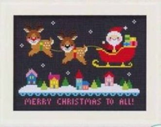 Trellis & Thyme - Merry Christmas to All-Trellis  Thyme - Merry Christmas to All, Christmas, Santa Claus, reindeer, Christmas Eve, cross stitch