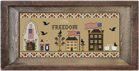 Twin Peak Primitives - Freedom Lane-Twin Peak Primitives - Freedom Lane, patriotic, USA, cross stitch, America