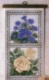 Teresa Wentzler - Floral Bellpull - Cross Stitch Kit-Teresa Wentzler, Floral Bellpull, flowers, roses, pansy, violets, Cross Stitch Kit