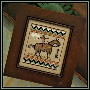 Little House Needleworks - Tumbleweeds - The Journey-Little House Needleworks. Tumbleweeds, The Journey, southwest, western, horse, cowboy, desert, Cross Stitch Pattern