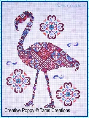 Tam's Creations - Flamingopatches-Tams Creations - Flamingopatches, Flamingo, pink, cross stitch