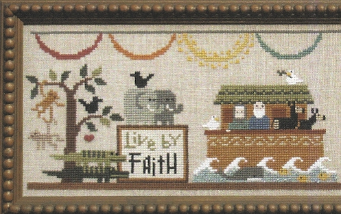 Bent Creek - The Noah's Ark Mantel - Part 2 of 3 - The Boat - Cross Stitch Kit-Bent Creek, The Noahs Ark Mantel - Part 2 of 3 The Boat - Cross Stitch Kit