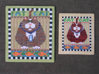 Val's Stuff - Fat Cat-Vals Stuff - Fat Cat, kitty, cross stitch, animals,