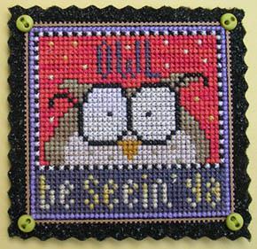 Val's Stuff - Owl Be Seein' Ya - Limited Edition Kit-Vals Stuff - Owl Be Seein Ya - Limited Edition Kit, Halloween, magnet, owls, birds, cross stitch